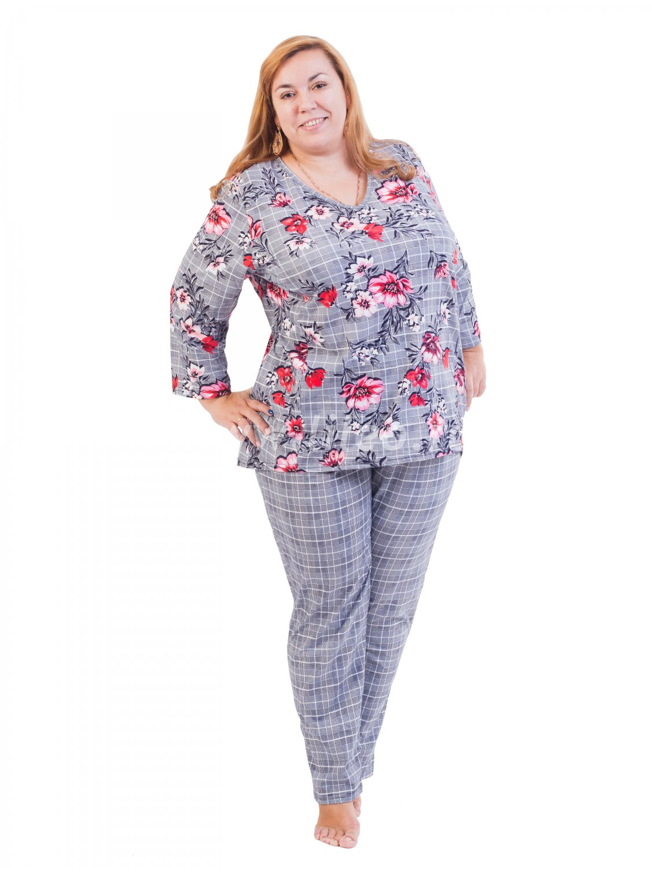 Пижама, цвет - серебристо-серый