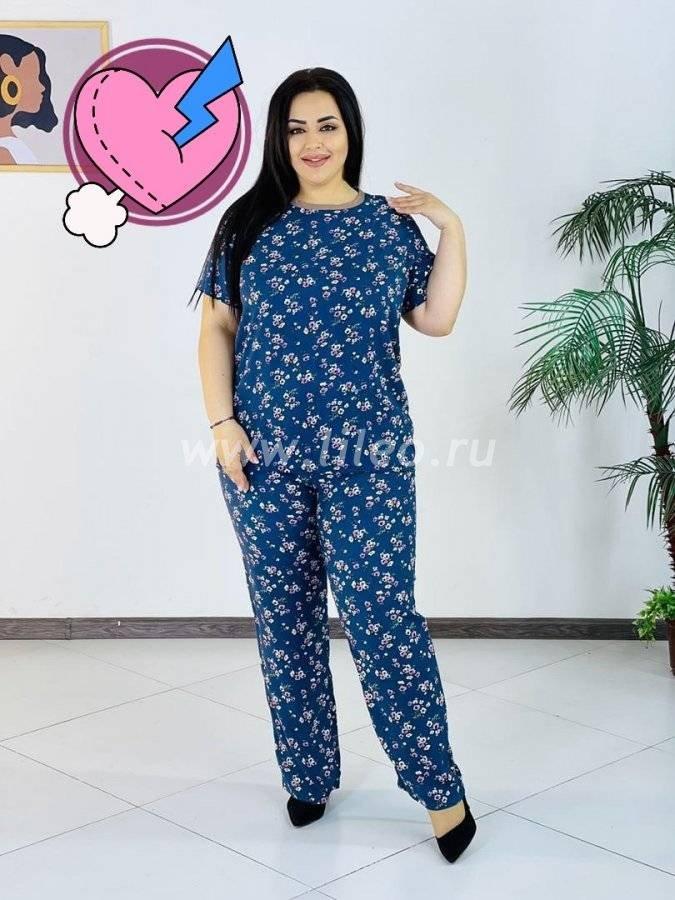 Пижама t-1126587O8D25ECB6, цвет - синий с белым