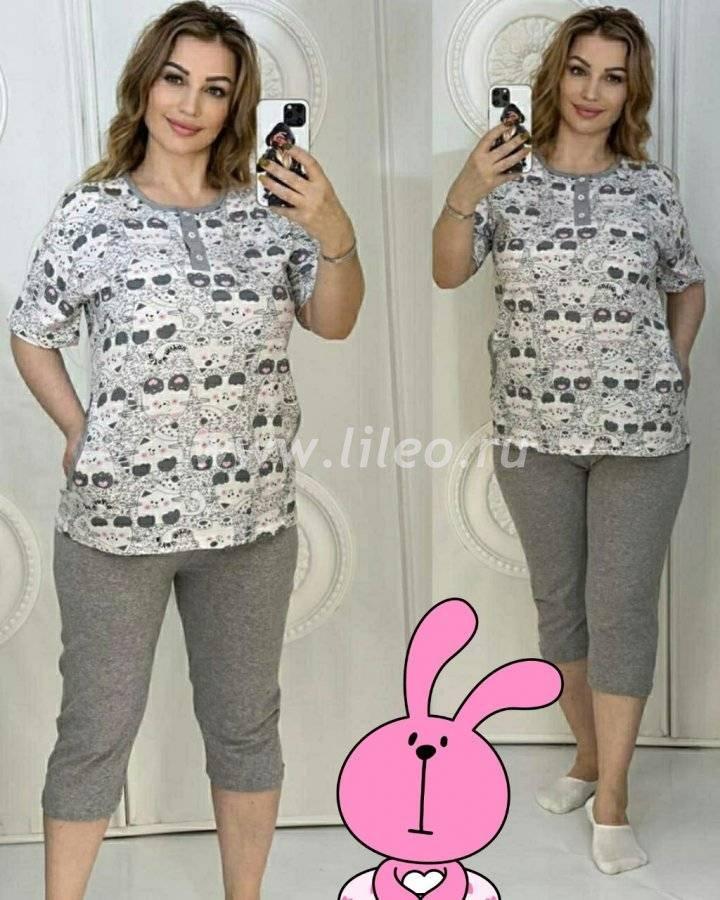 Пижама t-1127223O8D25ECB6, цвет - бежево-серый