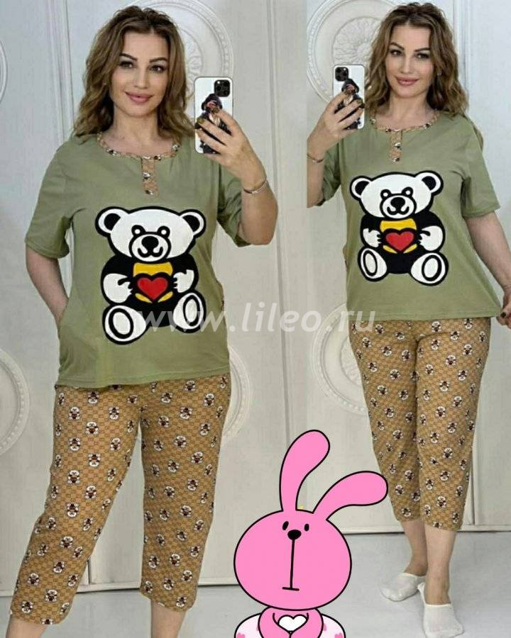 Пижама t-1127225O8D25ECB6, цвет - фисташковый