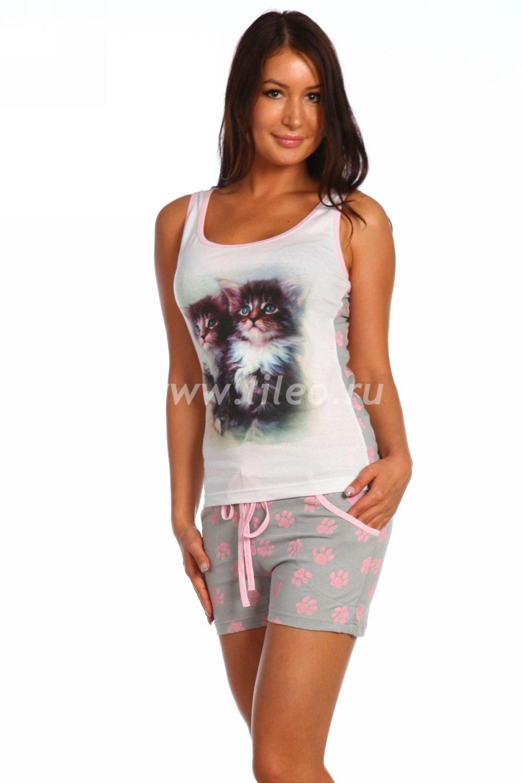 Пижама o-874499714O2FCD615B, цвет - бело-серый