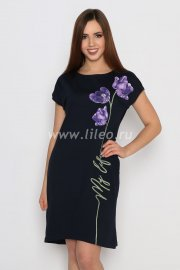 Платье , Темно-синий