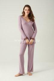 Пижама с брюками, светло-фиолетовый